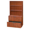 2 Drawer Lateral File with Hutch-1