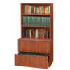 2 Drawer Lateral File with Hutch-2