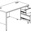 TUFFMAXX Single Pedestal Steel Desk-5
