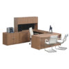 Timeless Ext'd Bowfront U-Shape Workstation-1
