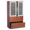 Two Door Tall Storage w:Glass Doors -1