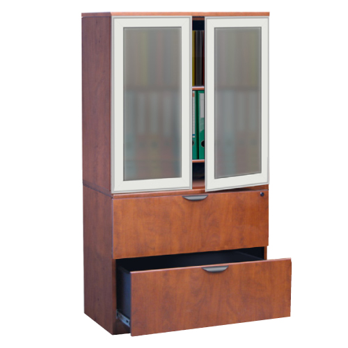 Two Door Tall Storage W Glass Doors Office Furniture Warehouse Direct