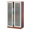 Two Door Tall Storage w:Glass Doors-1
