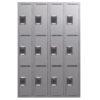 TUFFMAXX Locker- 3-door, 4-bank-1