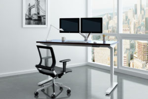 edmonton office design - ergonimic desk setup